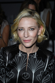 Cate Blanchett went to the Armani Prive fashion show wearing this lovely curled-out bob.
