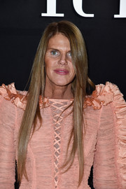 Anna dello Russo's long straight 'do at the Armani Prive show looked totally worthy of a shampoo ad.