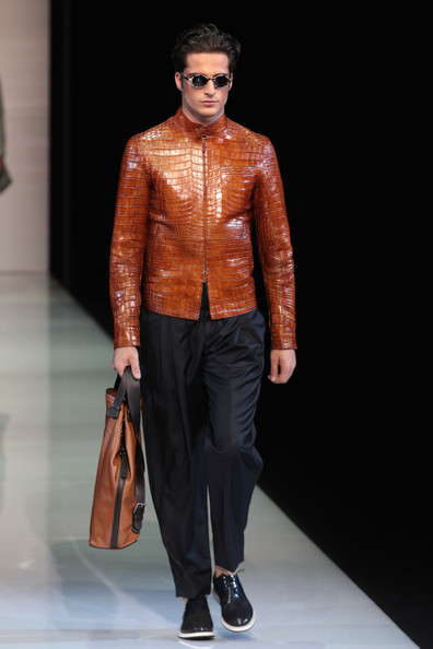 crocodile rock - 20 outrageous men u0026 39 s looks from milan fashion week spring 2013