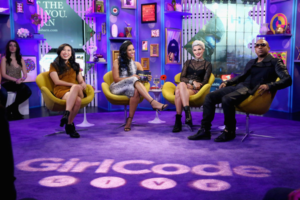 More Pics of Awkwafina Suede Dress (1 of 5) - Awkwafina Lookbook - StyleBistro [season finale episode,performance,purple,event,fun,stage,performance art,performing arts,musical,leisure,talent show,ja rule,awkwafina,carly aquilino,nessa,girl code live,l-r,mtv studios,new york city]