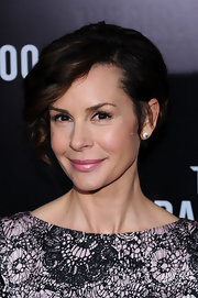 Embeth Davidtz wore a frosty pink lipstick at the NYC premiere of 'The Girl With the Dragon Tattoo.'