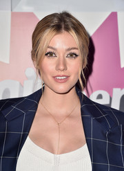 Katherine McNamara opted for a casual ponytail when she attended the #girlhero Awards luncheon.