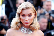 Elsa Hosk channeled Old Hollywood with these retro curls at the Cannes Film Festival screening of 'Girls of the Sun.'