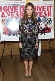 Rose Byrne's floral number was feminine, chic and completely envy worthy.