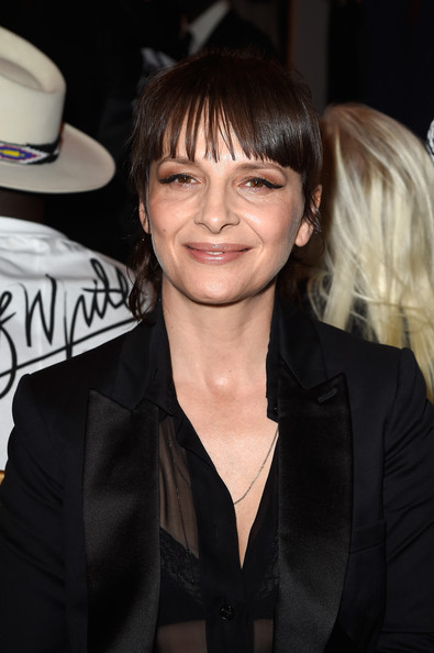 More Pics of Juliette Binoche Skirt Suit (4 of 5) - Suits Lookbook - StyleBistro [show,hair,hairstyle,bangs,blond,smile,long hair,suit,brown hair,layered hair,black hair,juliette binoche,front row,part,paris,france,givenchy,paris fashion week womenswear spring]