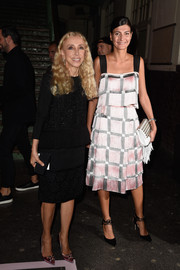 A matching skirt completed Giovanna Battaglia's '20s-chic ensemble.