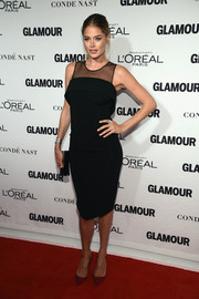 Doutzen Kroes went for a timeless look with this sheer-panel LBD at the Glamour Women of the Year Awards.