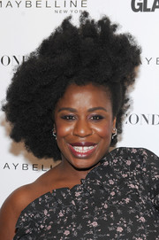 Uzo Aduba attended the Girl Project event rocking a half-pinned afro.