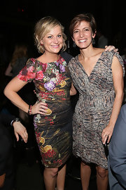 Cindi Leive chose a chic gray print dress for Glamour's presentation of 'These Girls.'