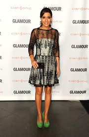 Marisol Nichols wore a sheer snake print cocktail dress for the Glamour Reel Moments event.