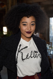 Amandla Stenberg pulled off dark lipstick so stylishly!