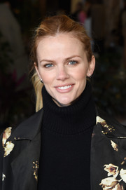 Brooklyn Decker opted for a casual ponytail when she attended Glamour's Women Rewriting Hollywood lunch.