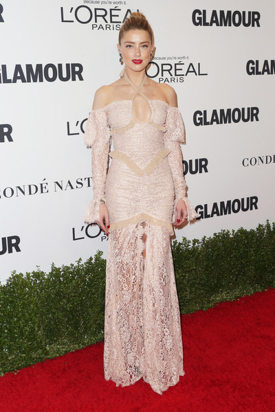 Amber Heard in Alessandra Rich