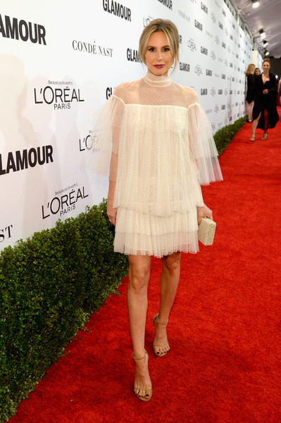 Keltie Knight was quite the eye candy in this tiered white dream by Valentino at the Glamour Women of the Year 2016.