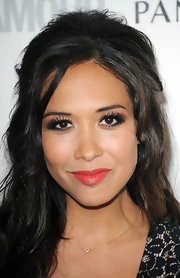 Myleene Klass' spidery false lashes were very Twiggy-inspired.