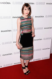 Ella Catliff's tribal print dress was a fun and stylish choice for the Glamour Women of the Year Awards in London.