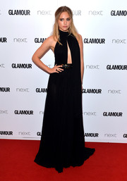 Suki Waterhouse was sexy-goth in a black Elie Saab cutout gown during the Glamour Women of the Year Awards.