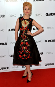 Paloma Faith brought a vintage vibe to the Glamour Women of the Year Awards with this flower-embroidered fit-and-flare dress by Dolce & Gabbana.