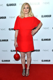 For her bag, Fearne Cotton chose a quirky red ball purse.