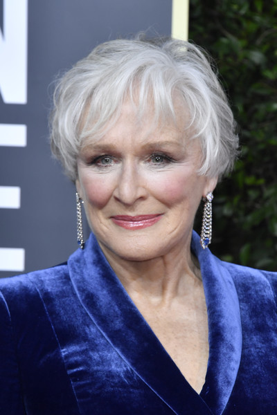 Glenn Close Messy Cut [hair,face,hairstyle,blond,eyebrow,head,chin,lady,lip,electric blue,arrivals,jewellery,glenn close,golden globe awards,hair,hairstyle,fashion,celebrity,face,california,glenn close,golden globe awards,the beverly hilton,red carpet,2020,92nd academy awards,fashion,celebrity,jewellery]
