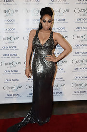 Raven-Symone looked like a warrior queen in a studded metallic evening dress for the Grey Goose Glitz and Glam Gala.