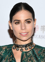 Ally Hilfiger wore a slicked-down ponytail at the Global Lyme Alliance Gala.