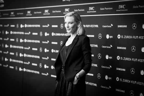 More Pics of Cate Blanchett Blazer (1 of 80) - Cate Blanchett Lookbook - StyleBistro [image,photograph,text,font,black-and-white,photography,technology,monochrome photography,monochrome,brand,portrait,cate blanchett,kino corso,zurich,switzerland,whered you go bernadette premiere - 15th zurich film festival,premiere]