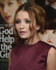 Emily Browning was sexily coiffed with this loose updo at the 'God Help the Girl' screening.
