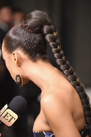 Serayah McNeill showed off a perfect braid at the Golden Heart Awards.
