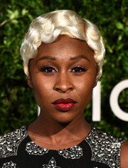 Cynthia Erivo turned heads with her platinum-blonde finger-wave wig at the God's Love We Deliver, Golden Heart Awards.