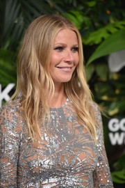 Gwyneth Paltrow wore her signature center-parted waves when she attended the Golden Heart Awards.