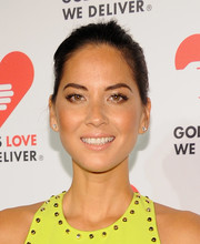 Olivia Munn topped off her look with a simple bun when she attended the Golden Heart Awards.