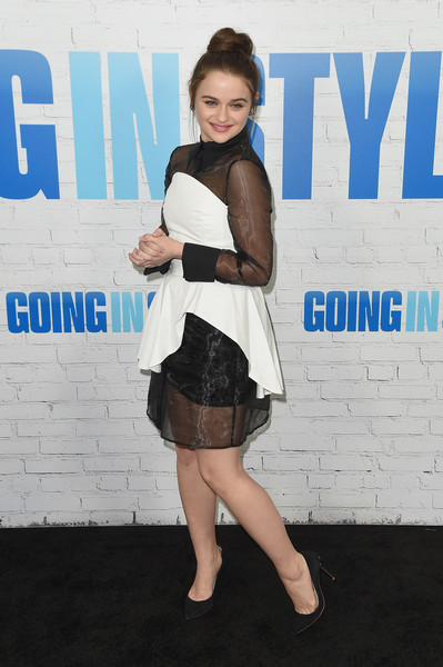 More Pics of Joey King Cocktail Dress (1 of 9) - Joey King Lookbook - StyleBistro [going in style,clothing,fashion,beauty,leg,snapshot,hairstyle,footwear,electric blue,thigh,carpet,joey king,arrivals,new york,sva theatre,new york premiere]