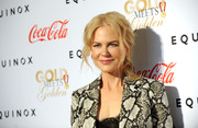 Nicole Kidman pulled her hair back into a loose, wavy ponytail for the Gold Meets Golden event.