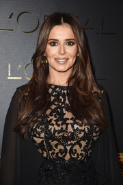 Cheryl Cole looked pretty wearing this flowing center-parted 'do at the Gold Obsession Party.