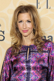 Alysia Reiner sported curly ends and a teased crown at the New York screening of 'Good Girls Revolt.'