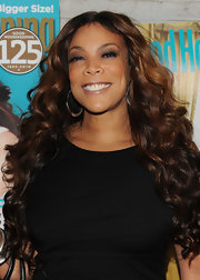 Wendy Williams wore her hair in long cascading curls at the Good Housekeeping anniversary event.