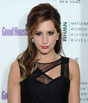 Ashley Tisdale dazzled at the 'Good Housekeeping' event in antique silver and Swarovski crystal Deco Bow earrings.