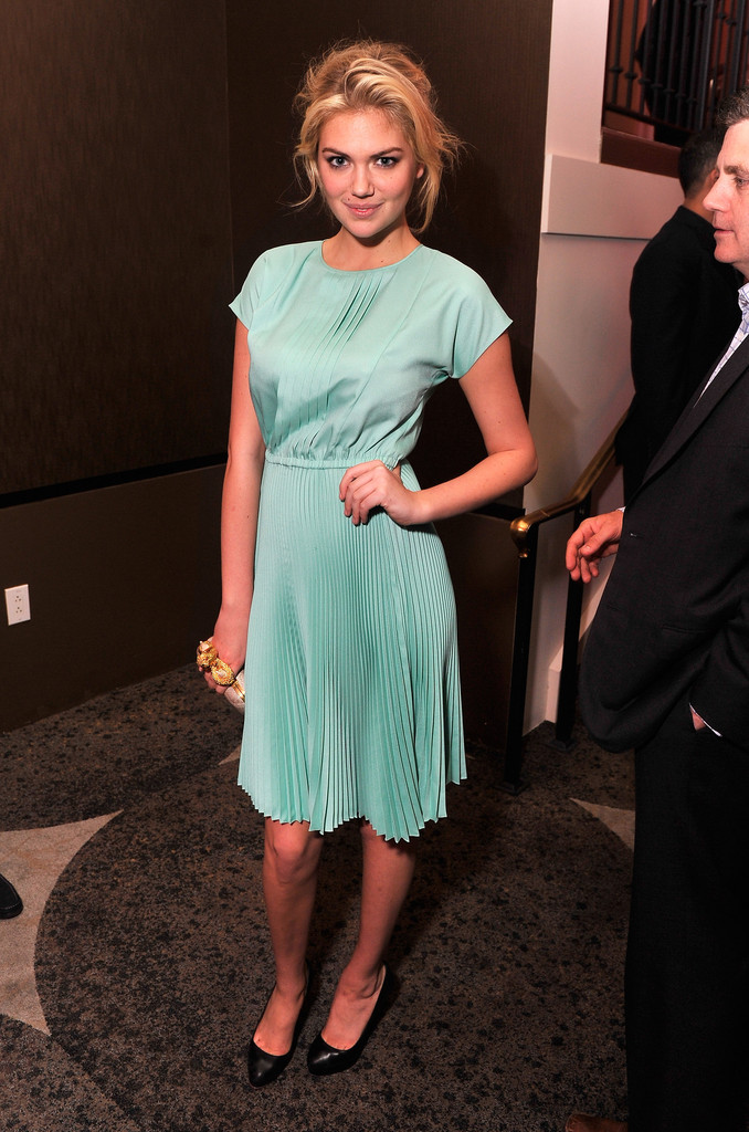 Model Kate Upton attends Google & Hollywood Reporter Host an Evening Celebrating The White House Correspondents' Weekend on April 27, 2012 in Washington, DC.