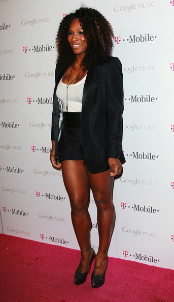 Serena Williams wore a pair of shimmering platform pumps at the Google Music launch party.