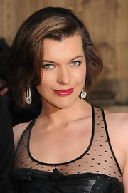 Milla Jovovich rocked a glamorous bob that was swept to one side at the Gorby 80 Gala in London.
