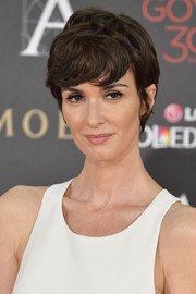 Paz Vega looked cool with her textured 'do and emo bangs at the 2016 Goya Cinema Awards.