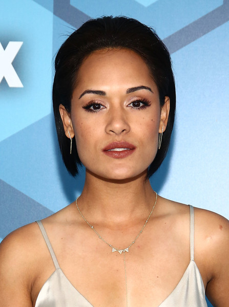 Grace Gealey Bob [hair,face,eyebrow,skin,hairstyle,lip,chin,forehead,beauty,nose,arrivals,fox 2016 upfront arrivals,grace gealey,central park,wollman rink,new york city,fox 2016]