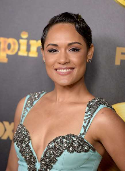 Grace Gealey Finger Wave [hair,hairstyle,eyebrow,beauty,chin,shoulder,smile,eyelash,premiere,black hair,arrivals,grace gealey,california,hollywood,arclight cinemas cinerama dome,fox,empire,premiere,premiere]