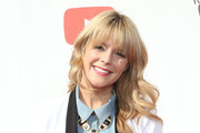 Grace Helbig Long Wavy Cut with Bangs