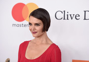 Katie Holmes sported a slicked-down bob at the Grammy Salute to Industry Icons.