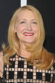 Patricia Clarkson styled her hair with face-framing layers for the premiere of 'Gravity.'