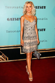 Danielle Spencer's gray and nude lace frock had a lovely, retro-romantic feel to it at the premiere of 'The Great Gatsby' in Australia.