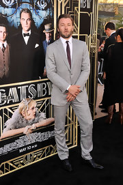 Joel Edgerton's light gray suit looked sleek and old-school on the actor at the premiere of 'The Great Gatsby.'