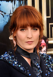 Florence Welch's fiery red hair looked simply fabulous when pulled back into a carefree messy updo.
